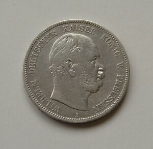 Prusse-5-Mark-1876-A-034-Wilhelm-I-034-J-97-Tres-Beau
