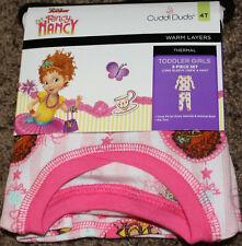 5T NEW girl CUDDL DUDS 2-pc FANCY NANCY disney LONG SLEEVE CREW /& PANT thermal