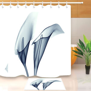 Image Is Loading 71 034 Transparent Calla Lily Flower Shower Curtain