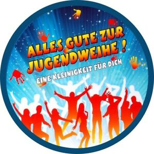 Jugendweihe-Essbar-Tortendeko-Tortenaufleger-Party-Deko-Muffin-Karte-Tortenbild