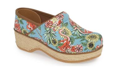 Women's Shoes Comfort Shoes Honest Dansko Jute Professional Clog Flamingo Canvas Women's Sizes 36-42/6-12 New