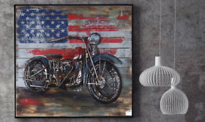 Motorcycle Wall Art Eclectic Home Decor Metal