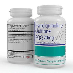 1-Bottle-Premium-Veggie-PQQ-Pyrroloquinoline-Quinone-60-Capsules-20mg-Per-Cap