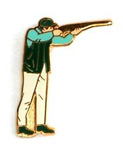 Clay Pigeon or Game Shooting Enamel Tie or Lapel Pin Badge NEW 1st Class POSTAGE