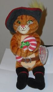 8301d72a416 Ty Beanie Baby ~ PUSS IN BOOTS (Shrek The Halls) Exclusive (8. Inch ...