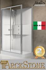 Box doccia termostatico Silver Novellini Media 2.0 2p120x80 Idro ...