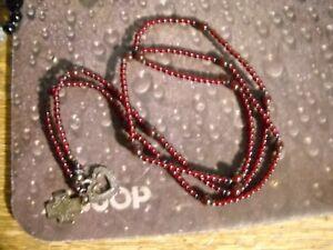 Silpada-925-Sterling-Silver-Garnet-Lariat-Heart-Cross-Necklace