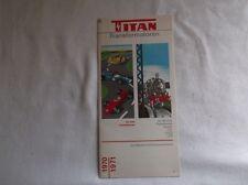 Werbeprospekt  Titan Transformatoren - mit beiliegender Preisliste von 1971 /S79