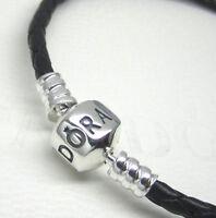 Authentic Pandora 590705cbk-s2 Single Black Leather Braceletretired