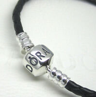 Authentic Pandora 590705cbk-s2 Single Black Leather