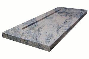 waschbecken aus naturstein granit model bern 100x45cm juparana ebay. Black Bedroom Furniture Sets. Home Design Ideas
