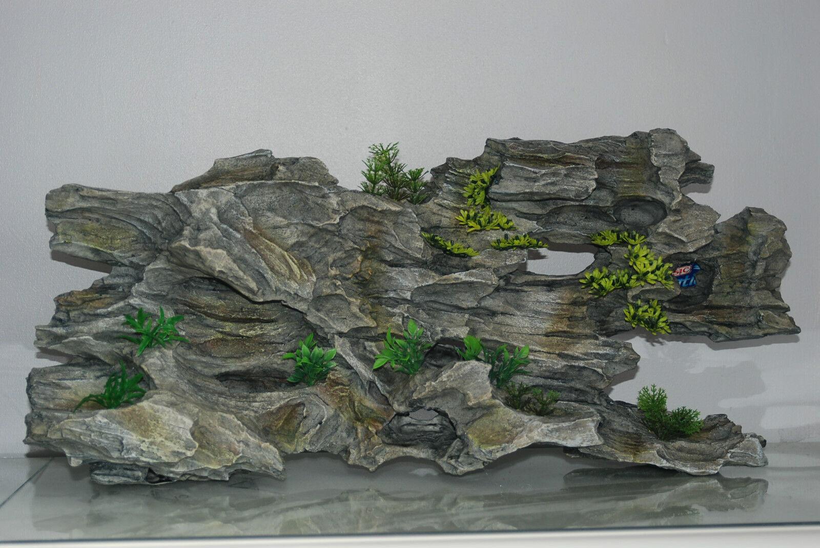 Stunning Realistic Giant Aquarium Driftwood & Plants Decoration 64x13x30 cms