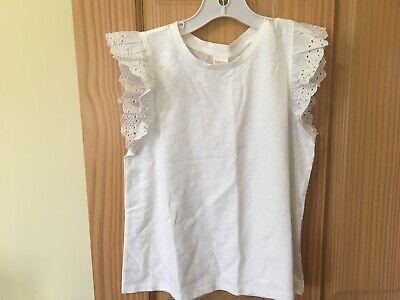 NWT GYMBOREE Girl White Eyelet Shirt Top