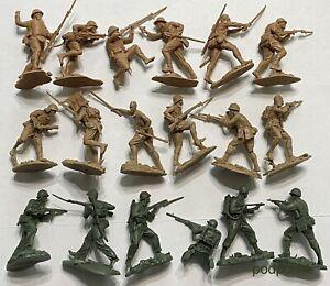 Plastique peloton NEUF 3 jeux US Marines les soldats japonais # 1 et # 2 WW2 1:32