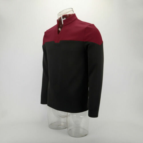 2019 Star Trek Captain Picard Startfleet Uniform Cosplay Command Red Top Shirts
