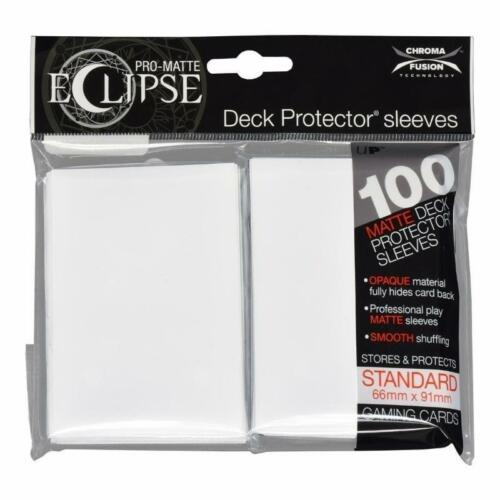Ultra Pro Matte Deck Protector Sleeves ECLIPSE WHITE 100 ct MAGIC POKEMON FOW