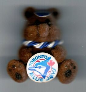 Jewellery-Tack-Pin-Blue-Jays-Baseball-Teddy-Flocked-Brown-Collectables