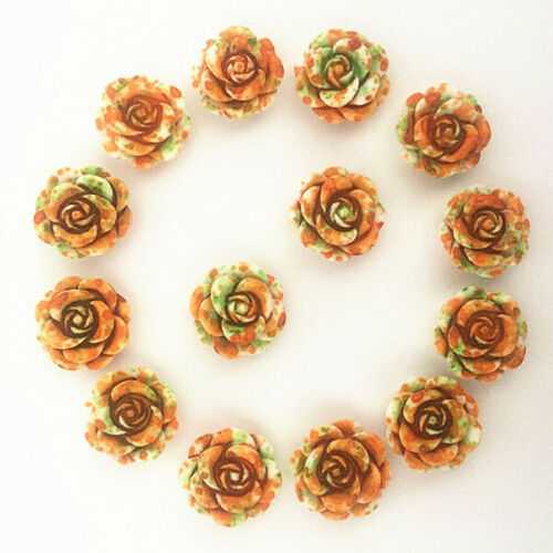 30-120pcs 14mm rose diy mobile phone beauty material jewelry accessories