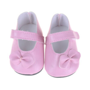 Pink-Shoes-with-Bow-Clothes-Accessory-for-18-034-Doll-Journey-Doll-AU