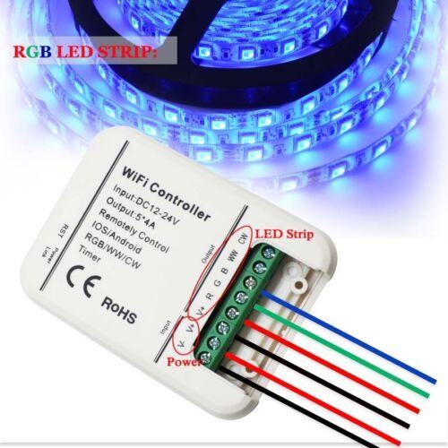 LEDENET Smart WiFi LED Controller 5 Channels Control 4A5CH CW WW RGB RGBW RGBWW