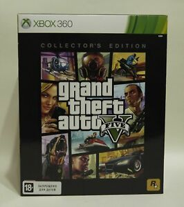 Grand-Theft-Auto-5-GTA-V-Collectors-Edition-Xbox-360-Factory-Sealed-Very-Rare