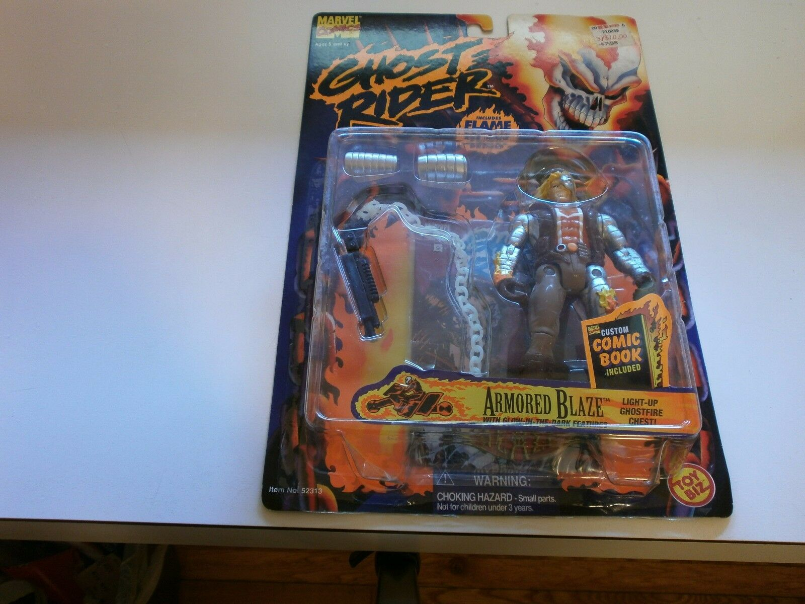 Toybiz Ghost Rider Series 2 (1996) - ArmoROT Blaze Light Chest Up Chest Light MOC 8bc9a5