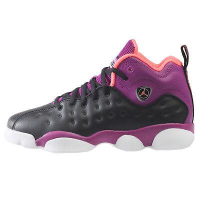 Jordan Jumpman Team II Big Kids 820276-008 Black Purple Shoes Youth Size 7