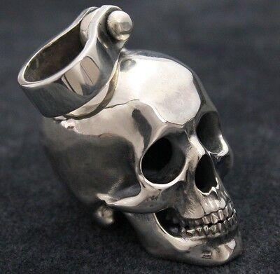 Totenkopf Anhänger Harley Biker Schmuck Skull Kettenanhänger Silber 925 | eBay