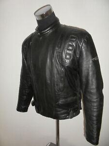 vintage-HELD-Motorradjacke-Leder-Bikerjacke-Motorrad-80s-oldschool-biker-56-L