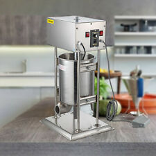 12l 28lb Electric Commerical Sausage Stuffer Stainless Dual Speed Anti Rust