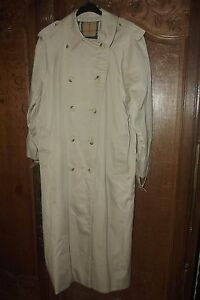Authentique Vintage Long Imperméable Burberrys Trench rWWASHnz