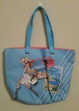 NWOT Lancome Blue Large Tote Bag French Riviera Beach Bag
