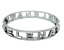 miniatuur 97 - Bracciale da donna in acciaio inox rigido a manetta con nome in zirconi bianchi