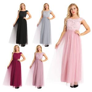 premium selection 0dcf7 f8537 Details zu Damen Abendkleid Spitze Tüll Kleid Ballkleid Sommerkleid  Hochzeit Kleider Lang