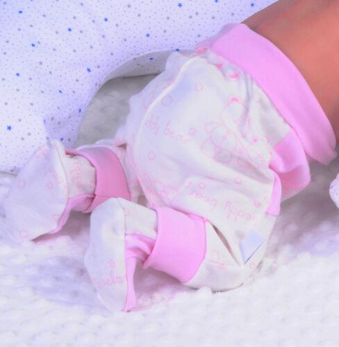 Hose mit Fuß Babyhose Hosen Schlupfhose bequeme Pumphose Creme Rosa 50-92