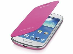 pretty nice 54a35 18a59 Details about Samsung Galaxy S3 mini Case S View Flip Cover Folio - Pink