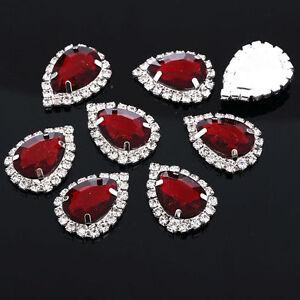 MT79R-25-18mm-LAGRIMA-Cristal-Diamantes-De-Imitacion-Brillantes-Boda-Topper