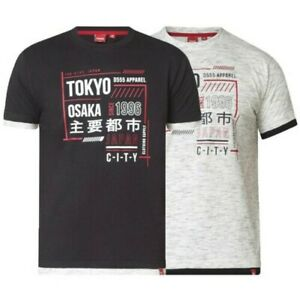 63be6a484fc809 Mens T Shirt Duke D555 Big King Sizes Double Layer Hem & Cuffs Tokyo ...
