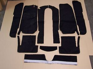Fiat 124 Spider 66 82 Black Loop Carpet Kit With 20 Ounce Padding Ebay