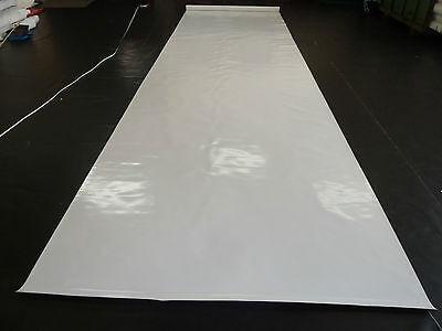 3,5€//m² Abdeckplane LKW Plane PVC Folie 5m breit ca.500g//qm weiß mit Ösen B-Ware