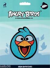 Applikation Nr. 925166c angry birds blau Aufbügel PRYM nähen bügeln Jacke Hose