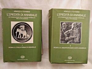 L'EREDITÀ DI ANNIBALE Arnold J Toynbee 1981 Einaudi due volumi libri di storia