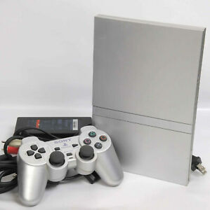 PS2-Slim-Console-System-SCPH-77000-Satin-Silver-Playstation-2-034-NTSC-J-034-FJ2292296