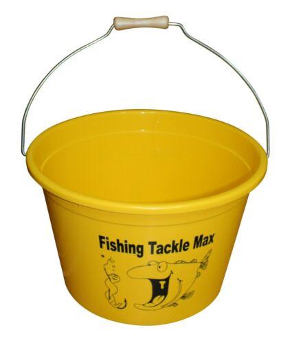 FTM Futtereimer 25L 8L Futterschale und Deckel Fishing Tackle Max Futter Eimer