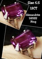 On Sale Alexandrite Stone Ring Jewelry 925 Sterling Silver Size 6.5 12cts