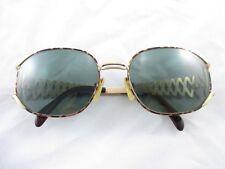 Yves Saint Laurent YSL Vintage Tortoise Gold Zig Zag Prescription Sunglasses