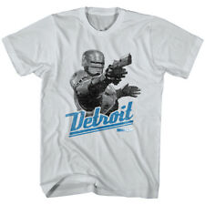 Buy Adult Men's Robocop Classic Film Detroit City Map Silver
