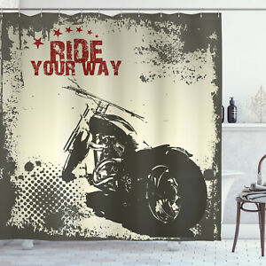 Grey-Shower-Curtain-Adventure-with-the-motorcycle