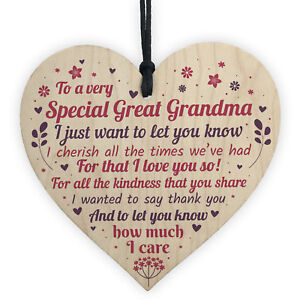 Image Is Loading Great Grandma Grandad Christmas Gifts Handmade Wooden Heart
