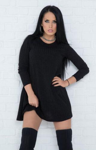 en XS pour By femme longue côtelée tunique mini Robe Robe M Alina côtelée maille zzqwASZ